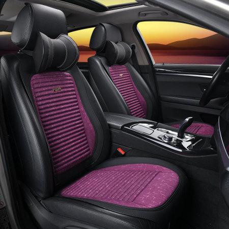 恒源祥 彩羊精品小马鞍车座椅套垫·黑紫
