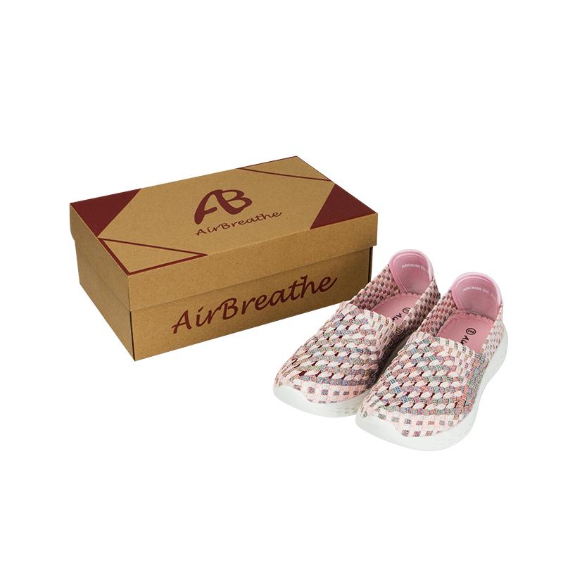 AIRBREATHE网眼透气套脚编织女鞋·粉色
