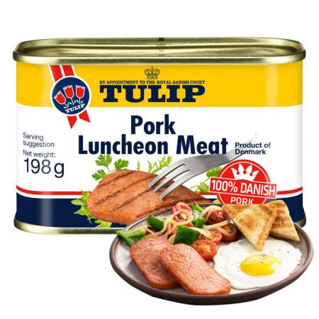 丹麦原装进口tulip经典午餐肉·198g*16罐