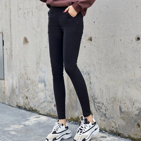 北极绒女士打底外穿经典小黑裤OJY20K36Y·黑色