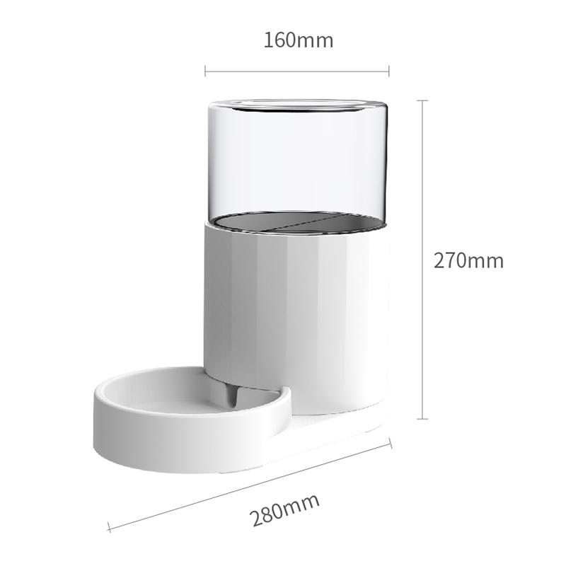 美芙 素白猫咪自动喂食/饮水器·饮水器