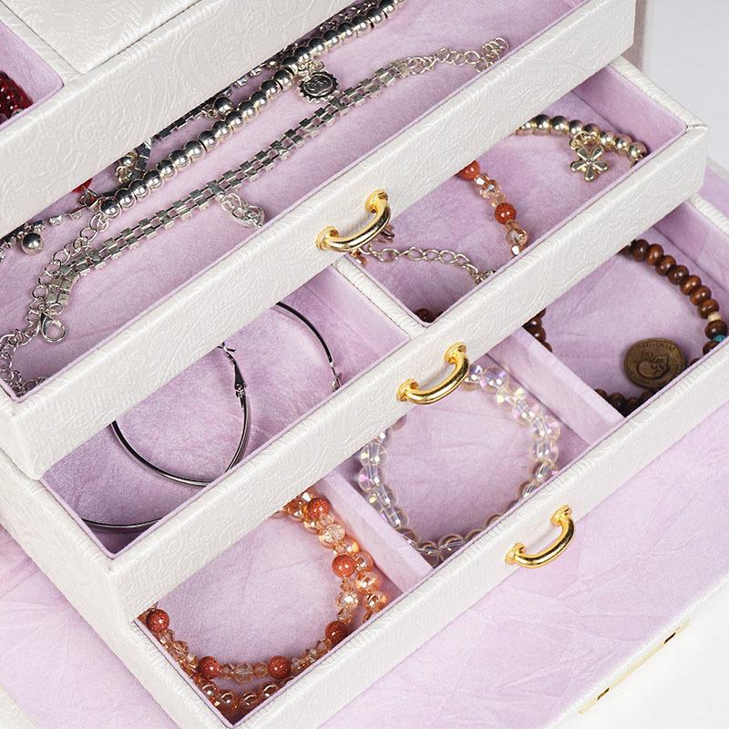 百年许氏 多层首饰收纳盒·香槟色