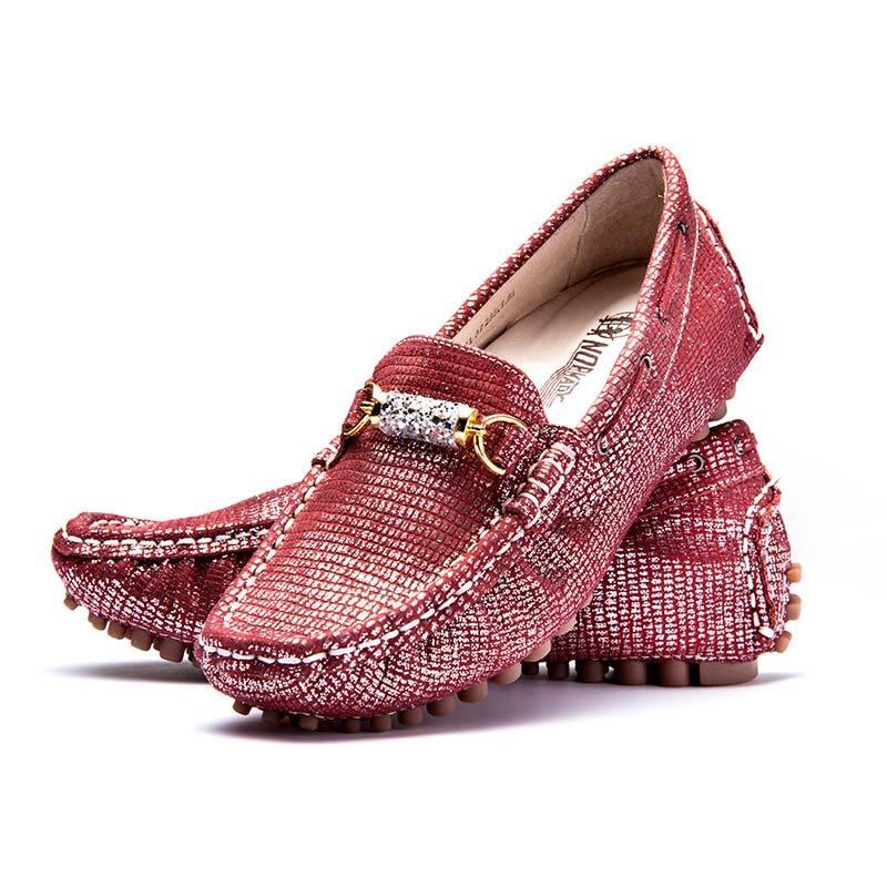 诺曼地银河糖心机能豆豆鞋·葡酒红