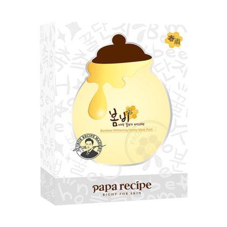 香港直邮 PapaRecipe春雨 蜂蜜黑炭红参美白面膜·美白滋润