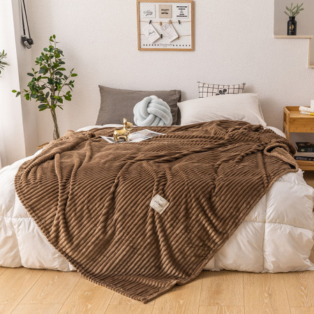 凯特之家牛奶绒毛毯·精英咖