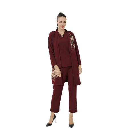 S.GELUNNA女士时尚优雅套组·酒红色