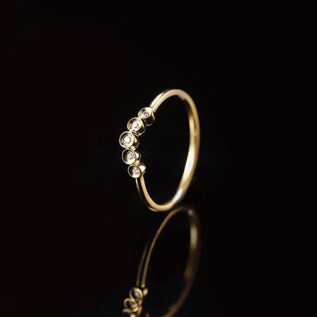 阖天下传家宝 18K金钻石戒指NA8176789·玫瑰色  玫瑰色