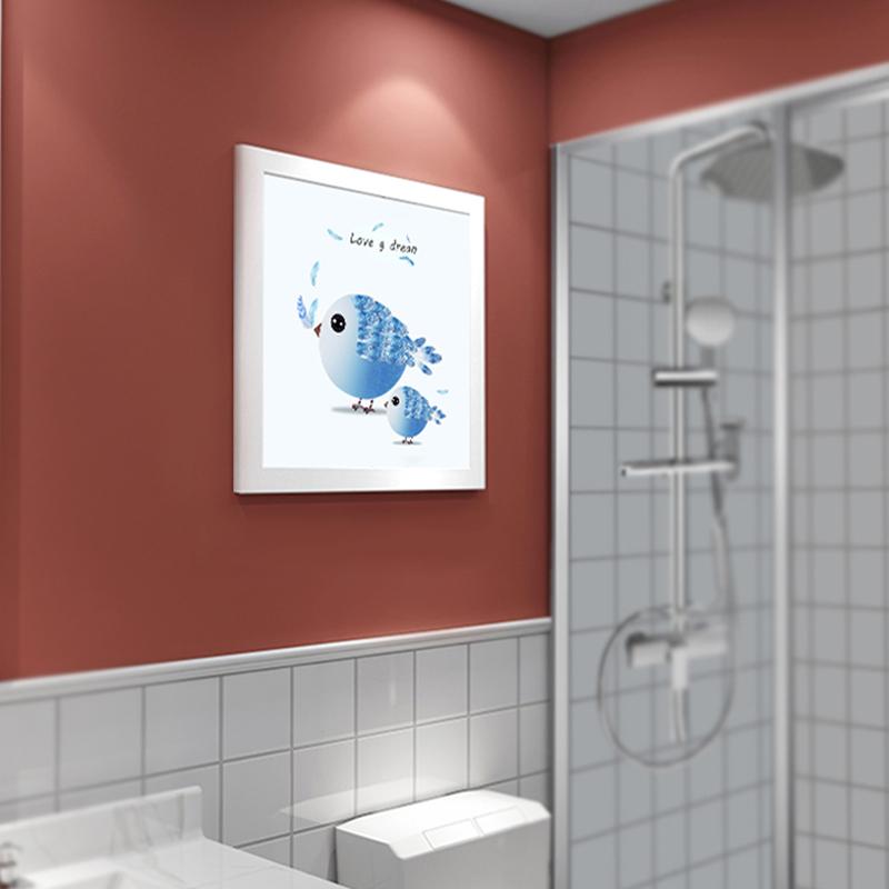 壁画式浴室折叠收纳隐形置物架 防水防霉 开合方便!·小鸟