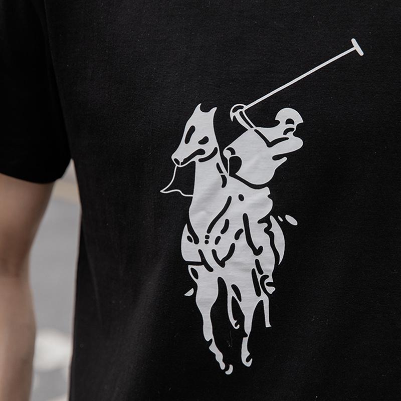 POLO SPORT 印花男士短袖·黑色(PDXM0229)