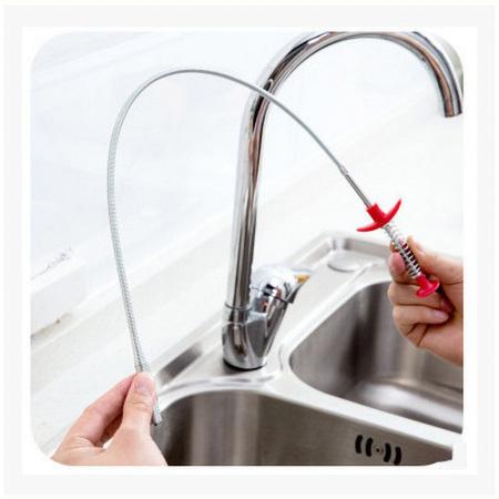 醉波厨房通下水道毛发头发清理疏通器 工具*黑色长60cm*不锈钢