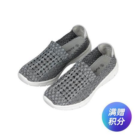AIRBREATHE时尚网眼透气编制男鞋·灰色
