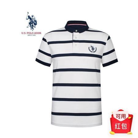 美国U.S.POLO ASSN.男士商务休闲T恤